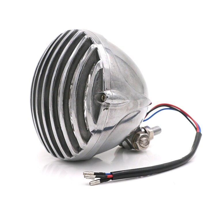 Lampe de phare Vintage chromé pour Harley Dyna Sporster Chopper Bobber VT