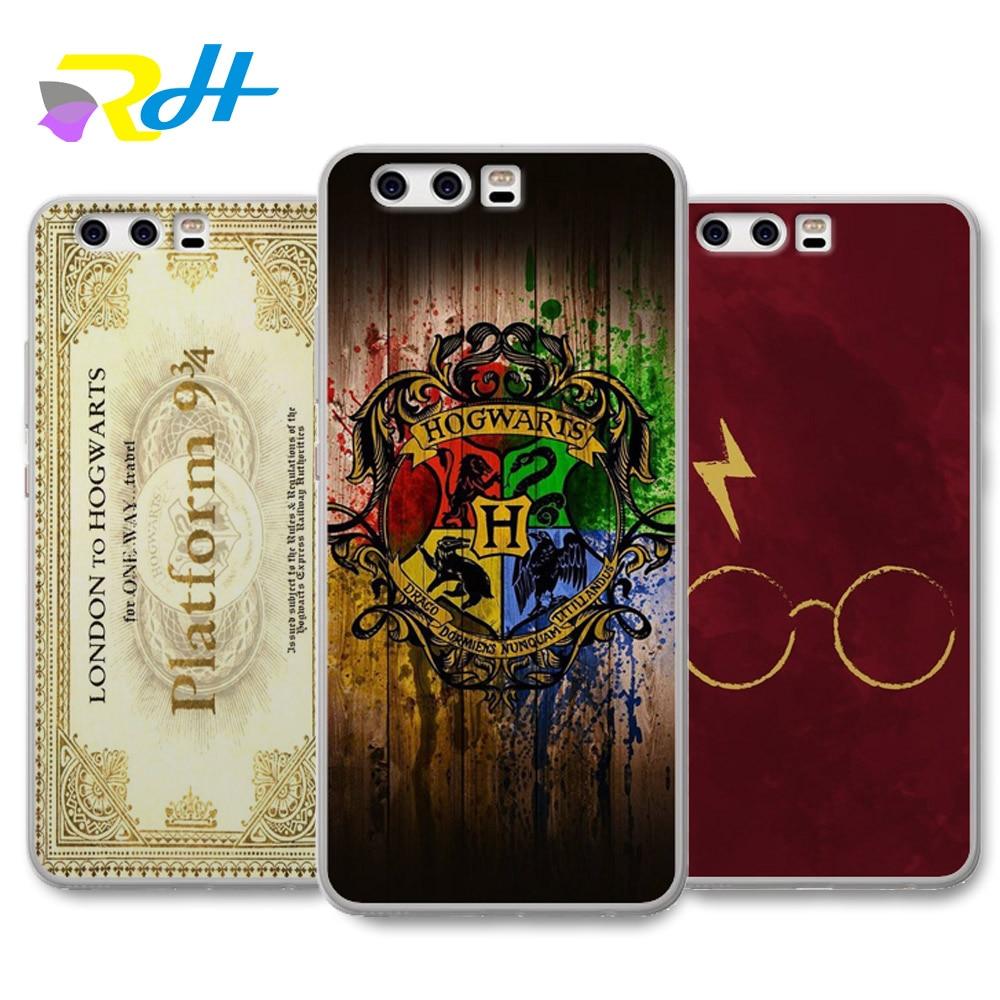 For funda Huawei honor 6A 6X 9 case Harry Potter cover for Huawei Y5 II case 2018 fashion for Y5 2017 Y6II Y6 Pro Y7 case
