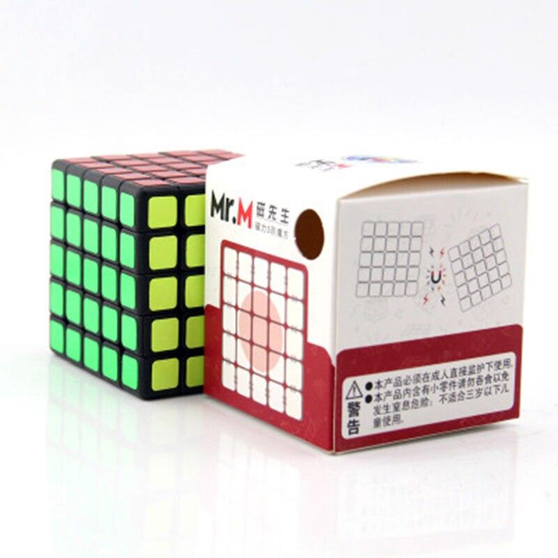 Cube néo professionnel 5x5x5 6.4cm vitesse pour Cubes Magico Puzzle Antistress autocollant Cubo Magico pour enfants jouets éducatifs pour adultes