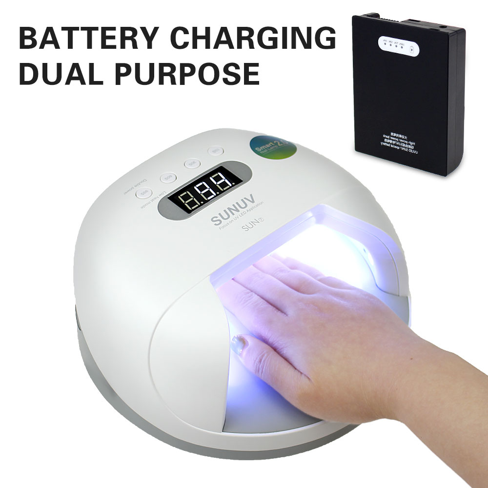 48W SUN7 UV LED Nail Lamp Double Light Source UV Dryer Gel Lamp Adjustable Timing Nail