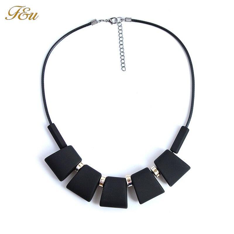 F&U New Fashion Design Geometric Acrylic choker necklace Mats