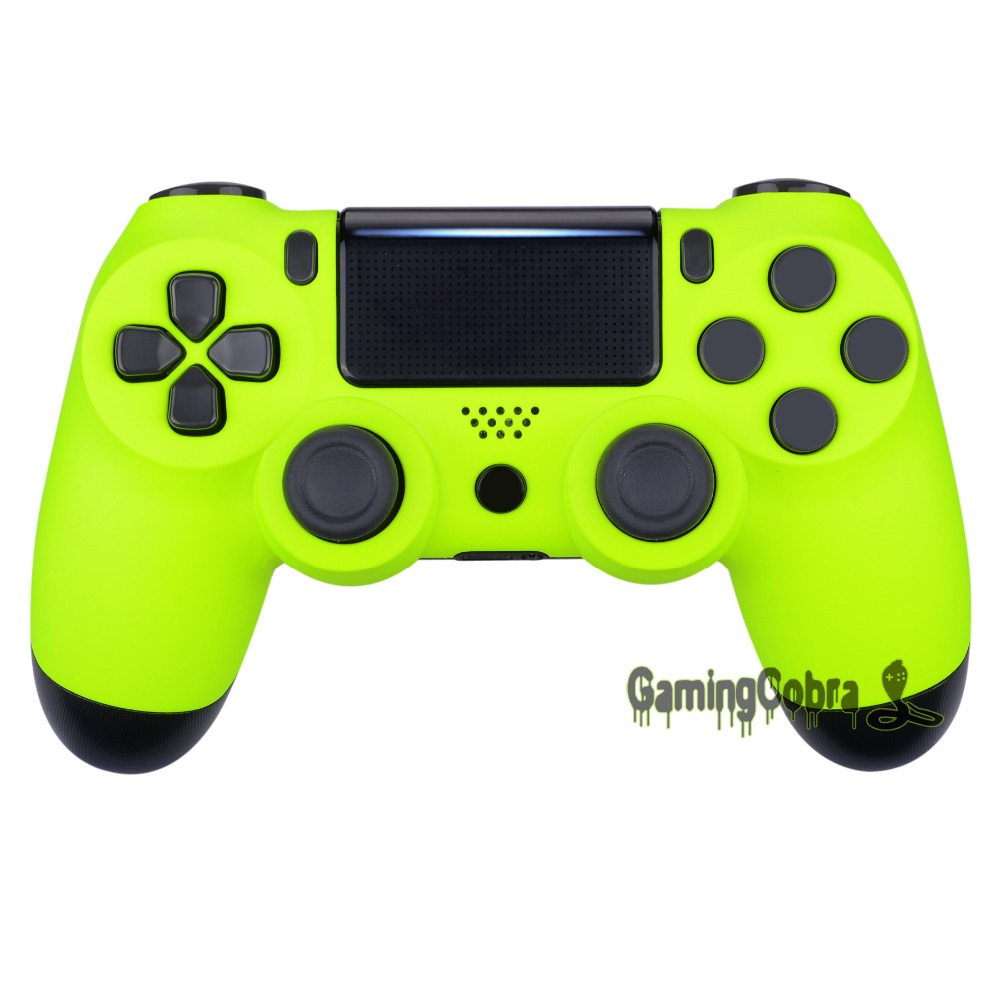 Lime Yellow Soft Touch Replacement Front Housing <font><b>Shell</b></font> Faceplate for PS4 Slim Pro Controller <font><b>JDM</b></font>-040 <font><b>JDM</b></font>-050 <font><b>JDM</b></font>-<font><b>055</b></font> #SP4FP18 image