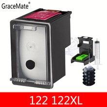 122XL Black Ink Cartridge for HP 122 Refillable Deskjet 1000 1050A 2000 2050 2050A 3000 3050 3050A 1510 Printer
