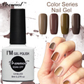 Vrenmol 1pcs Brown Series Nail Gel Lacquer Soak Off Coffee Chocolate Series Gel Nail Polish UV Gel Color Nail Art Tools