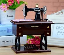 Sewing Machine Music Box Hot Selling Creative Birthday Gift For Student Girlfriend Child Vintage Home Decoration Accessories