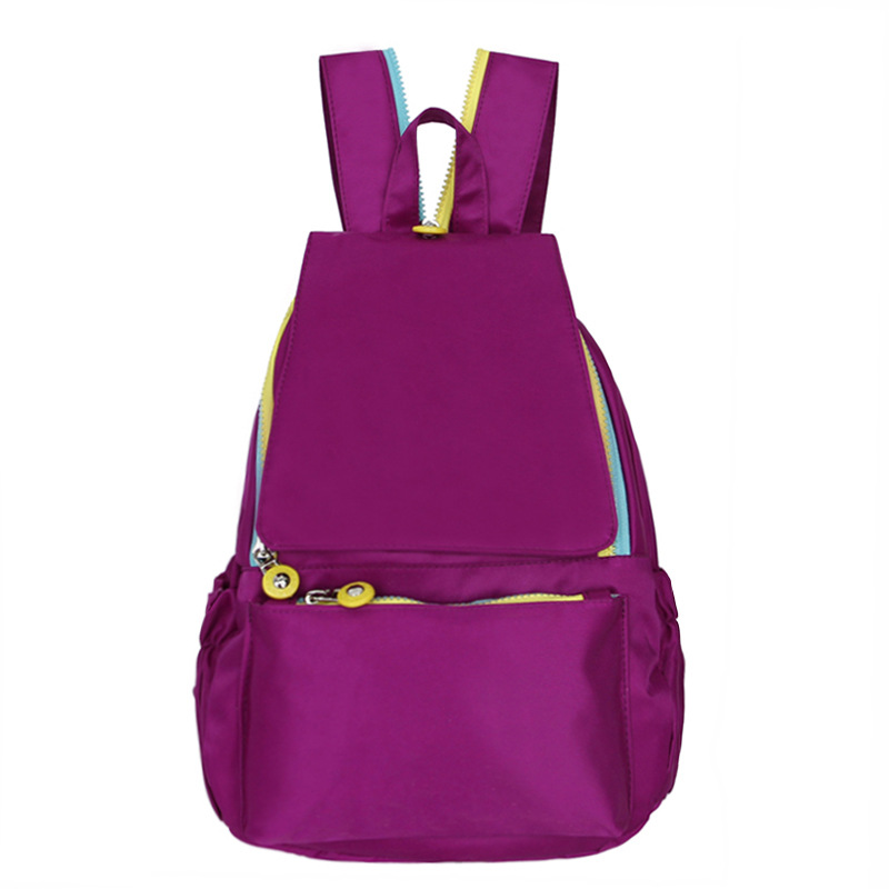Fashion Waterproof Nylon Women Backpack Candy Color Zipper Double Shoulder Bags Brand Quality Light Crossbody Bag Female Mochila
