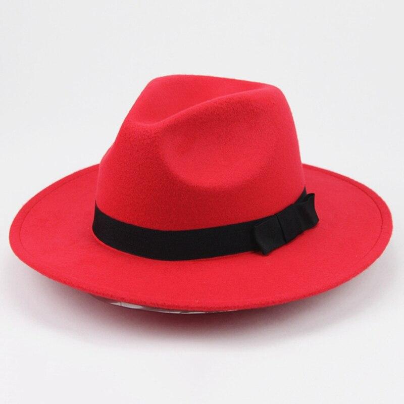 Fashion Vintage Men Women Hard Woolen Felt Gangster Trilby Fedora Hat Gentleman Elegant Lady Winter Autumn Jazz Caps