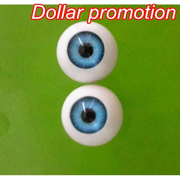 Top Selling10pieces/lot (5pairs)Blue Color Round Shape 14MM  MIX COLOR  Acrylic EYES   Reborn Doll Eyes Bjd Doll Eyes Customized