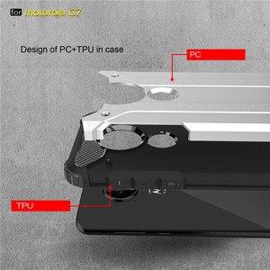 Image 4 - 10PCS מוקשח כיסוי עבור MOTO P40 הערה P30 כוח Z4 לשחק G7 בתוספת G6 E5 היברידי קשיח כפולה קשה שכבה שריון עמיד הלם טלפון מקרה