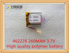 1pcs/Lot 3.7V,260mAH,[462228] Polymer lithium ion / Li-ion battery for SMART WATCH,bluetooth earphone,mp4,mp3,GPS,(A1 CELL)