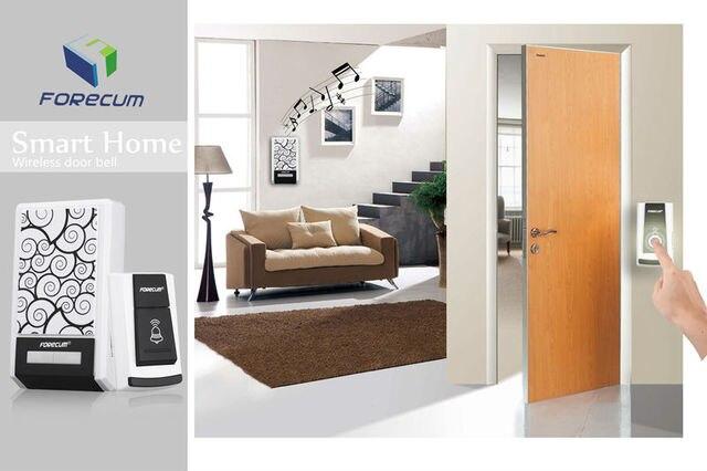 US $9 19 8% OFF|Waterproof Wireless Remote Doorbell No Battery Door Bell  Ring Music Home Alarm System Motion Sensor Transmitter + Receiver -in