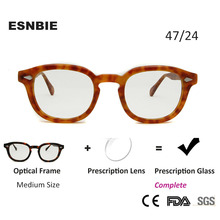 Acetate Prescription Glasses Men Medium Round Myopia Eyeglasses Women Brillen MenS Optical Frame Occhiali Uomo