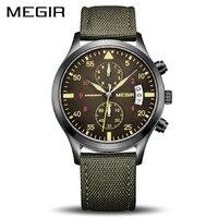 MEGIR Original Men Watches Fashion Canvas Military Watch for Gentle Men Male Quartz Wristwatches Relogio Masculino Reloj Hombre