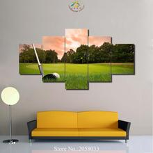 3-4-5 Pieces Golf Field Modern Wall Art Pictures HD Printed Canvas Painting Modular Paints Home Decoration