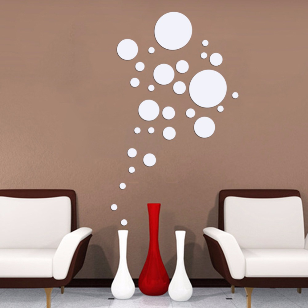 28pcs New Design Circle Mirror Wall Sticker Frame Round Wall Stickers  Luxury Home Decoration Best Gift Home Free Shipping In Wall Stickers From  Home ... Part 67