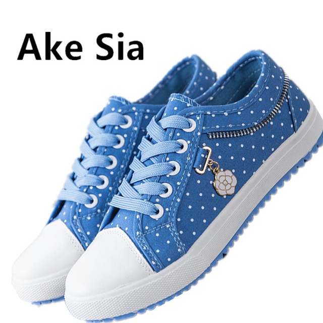 Walking Shoes Women Casual Denim Canvas Girl Lady Plimsolls Zipper school  shoes Flats Loafers Tufli Zapatos