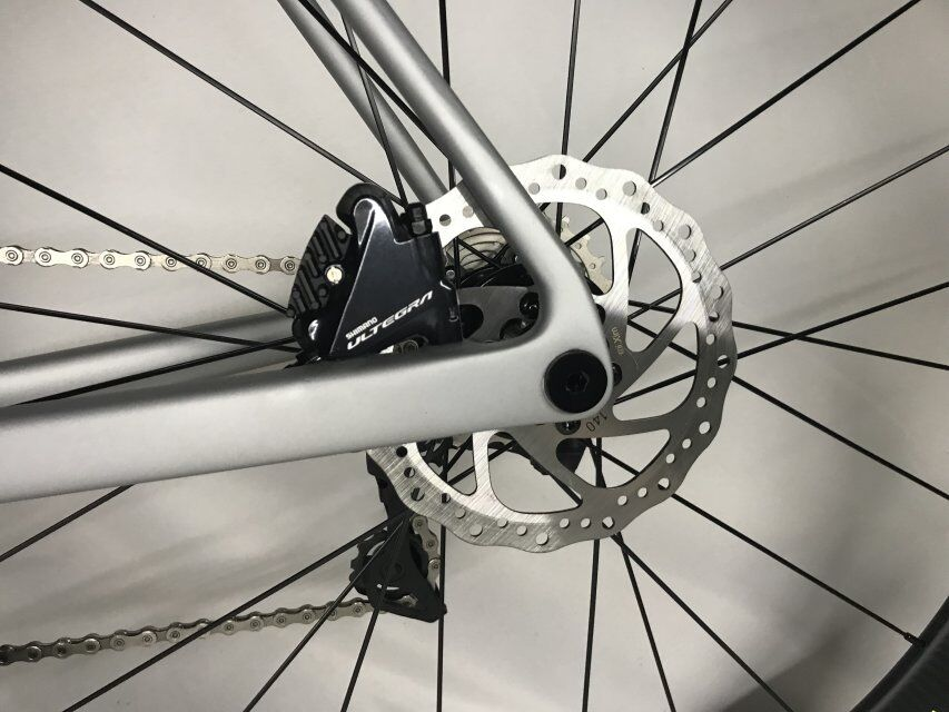 2018 disque vélo de route en fibre de carbone vélo complet vélo carbone BICICLETTA vélo groupe R8020 disque carbone 50mm pneu - 5