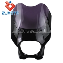 Universal Motorcycle Headlight Fairing Fiber Glass Front Light Fairing Motorcycle Front Cowl Windshield For Honda Yamaha Suzuki