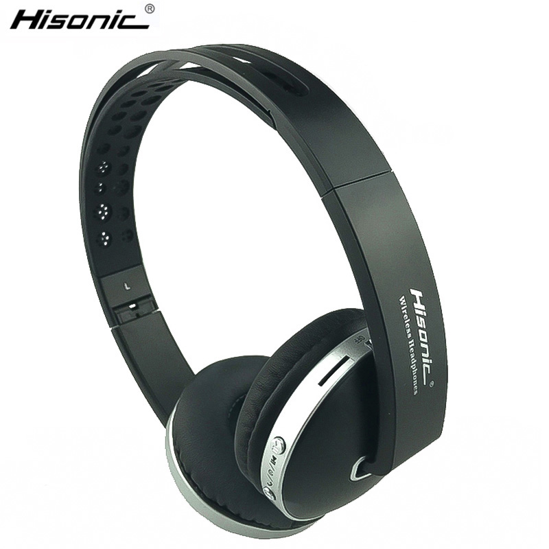 Hisonic Wireless Headphones Bluetooth Headset Stereo dilipat Sukan Earphone Mikrofon Permainan Cordless Auriculares Audifonos