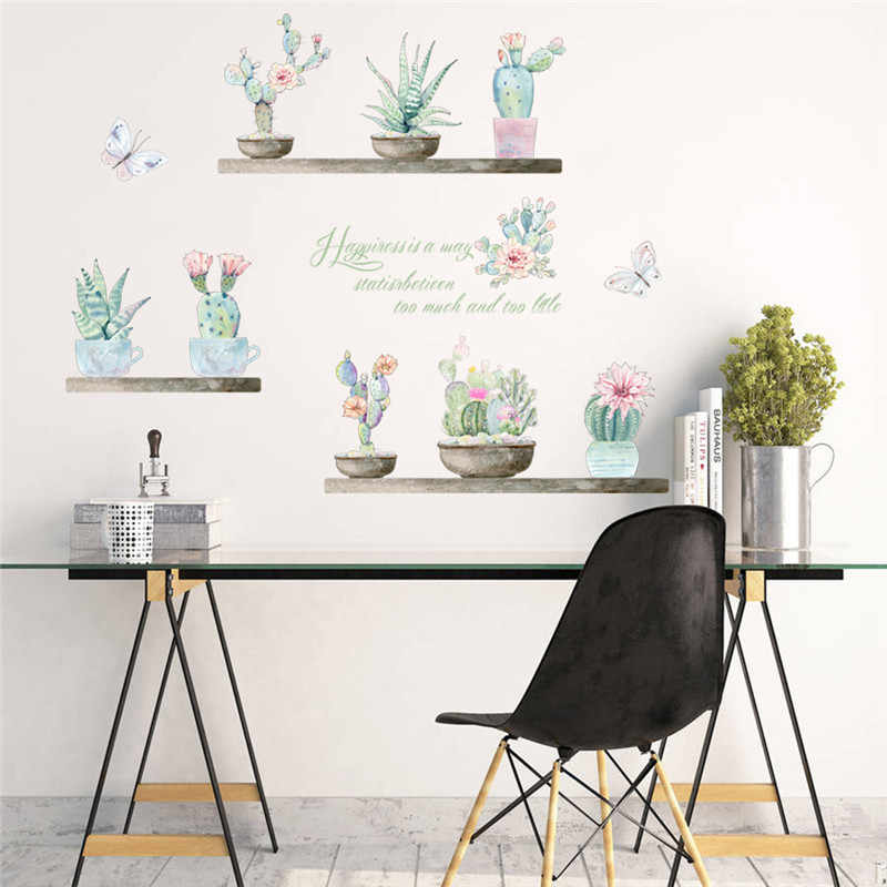 51a8c9056 Detail Feedback Questions about 3d vivid garden flower butterfly wall  stickers living room bedroom TV Background succulent plant wall decals  mural arts ...