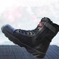 Wiosna jesień ultralekkie siatki tkaniny oddychające wysokiej rurki buty mężczyźni odkryty piesze wycieczki wspinaczka tactical training boot buty do kostki