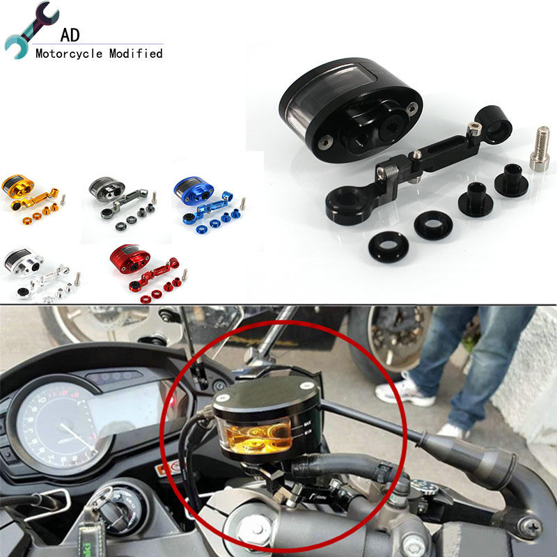 For Kawasaki Brake Fluid Reservoir Clutch Tank Oil Fluid Cup ZRX400 ZRX4002 ZRX1100 ZRX1200 H2R Motorcycle Accessories # universal motorcycle brake fluid reservoir clutch tank oil fluid cup for mt 09 grips yamaha fz1 kawasaki z1000 honda steed bone