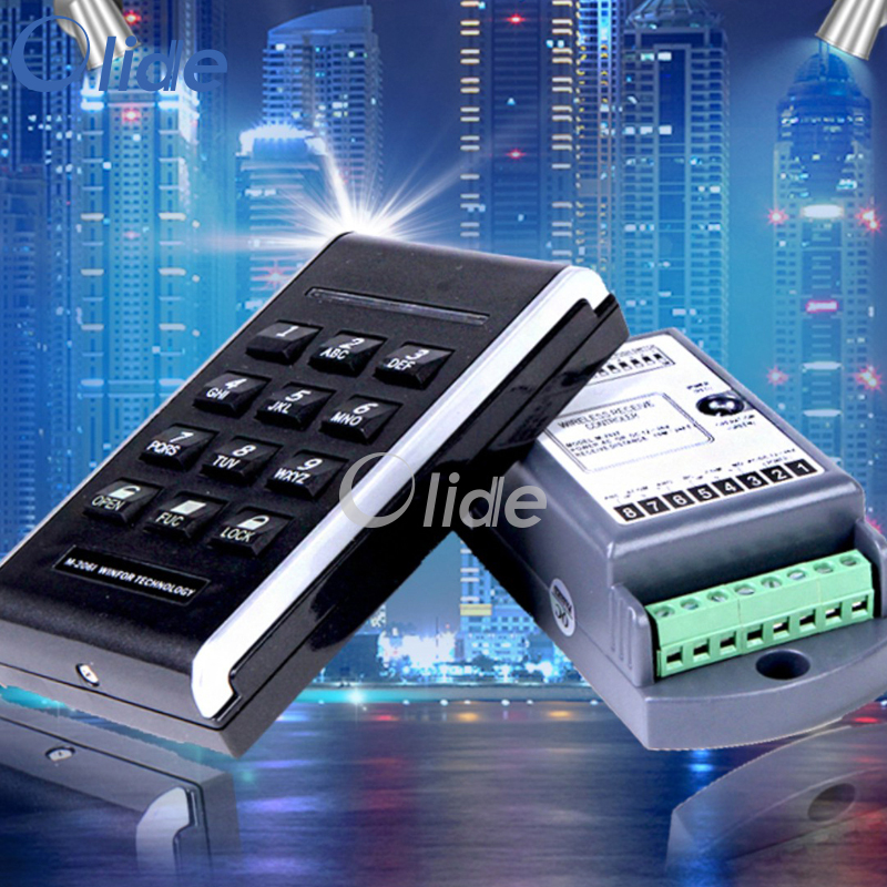 Wireless Access Keypad,Wireless Receiver For Entrance Access Control System new restaurant equipment wireless buzzer calling system 25pcs table bell with 4 waiter pager receiver