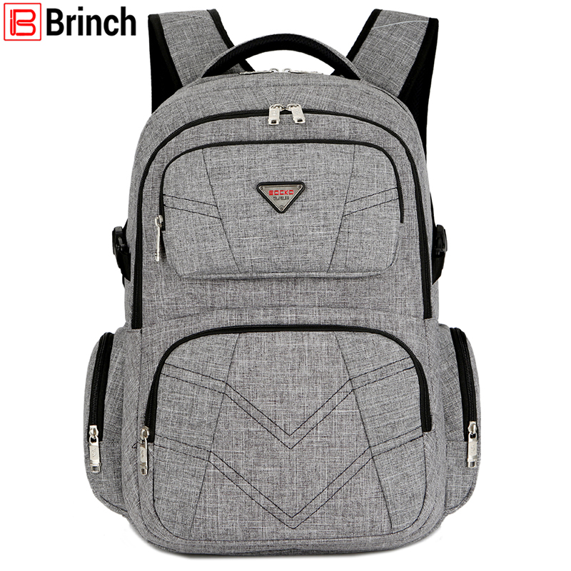 BRINCH 17.3 Inch Shockproof Laptop Backpack with USB Port Roomy Lightweight Water Resistant Business Travel Bag School Bag