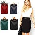 FANALA OL Skirt Ladies Women Slim Fashion Solid Stright Pencil Skirt Women High Waist Skirt Summer Clothing Plus Size