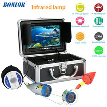 "BONLOR  Fish Finder Underwater Camera 15M 7"" 1000TVL HD Waterproof Underwater Ice Fishing Camera 12pcs Infrared LED Fishin"