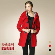 Burdully 2017 новая Женская Зимняя шерстяная куртка пальто оверсайз длинное зимнее пальто элегантный шерстяной манто Femme смеси куртка