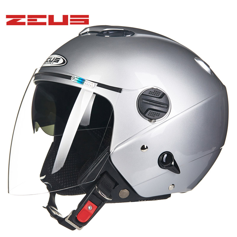 ZEUS Motorcycle Helmet long visor Helmet Retro Vintage casque moto Half face 4 seasons Motorcycle helmets masei mens womens war machine gray ironman iron man helmet motorcycle helmet half helmet open face helmet abs casque motocross