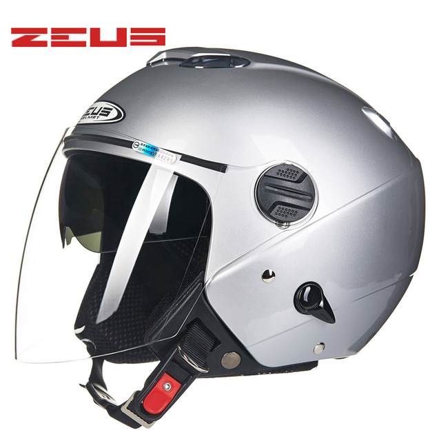 1435b698 ZEUS Motorcycle Helmet long visor Helmet Retro Vintage casque moto Half face  4 seasons Motorcycle helmets