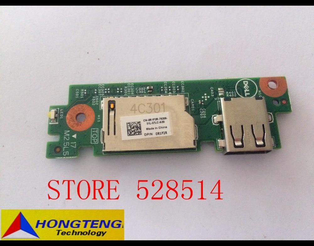 Original FOR DELL VOSTRO 15 3549 CARD READER USB BOARD CN-0R1F2R C0T2X 0XP600 450.00H03.0011 100% Test ok 668 usb 3 1 type c card reader