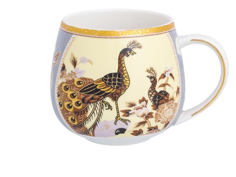 Mug Elan Gallery, Peacock on the beige, 400 ml mug elan gallery royal 300 ml