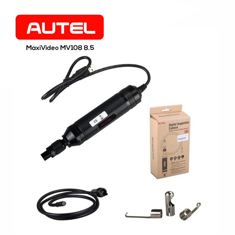 Autel MaxiVideo MV108 8.5mm Digital Inspection Camera for MaxiSys Tablet Kit Inspecting Most Spark Plug Holes