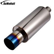 Universal Stainless Steel Exhaust Pipe 58cm Large Size Car Pipes Styling Exhaust Car Tail Pipe