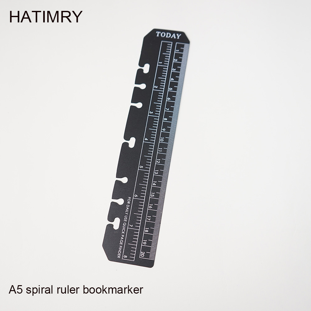 Hatimry Bookmarker Spiral  Ruler Straight Rulers Loose-leaf Notebook A5 A6 Bookmark Tool For Gift School Supplies