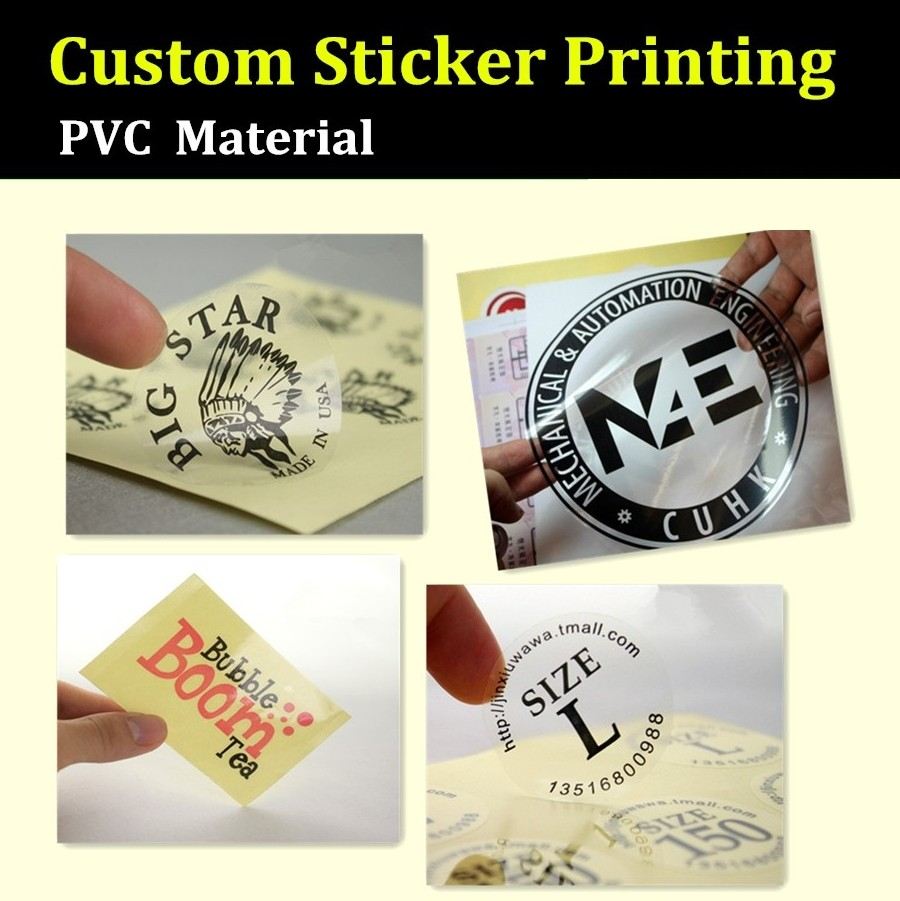 Oem order custom sticker printing pvc material made printing label