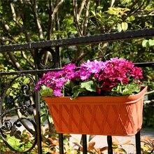 Hot Modern Plastic Wall Hanging Flower Pot Succulent Plant Holder Vase Half Round Baskets Garden Balcony Home Office Decoration