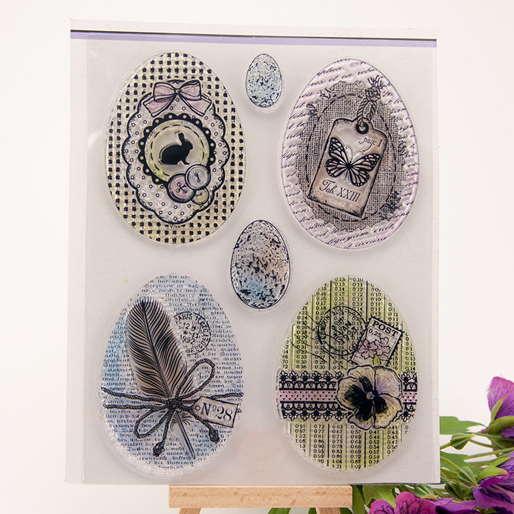 Scrapbook DIY photo cards account rubber stamp clear stamp transparent stamp Easter Egg rabbit 14x18cm SD279 scrapbook diy photo cards account rubber stamp clear stamp transparent stamp to from 16x22cm sd284