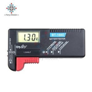 Image 4 - Comprobador de batería LCD Digital Universal, BT 168 LED, comprobador de voltios, celda AA AAA C D 9V 1,5 V, botón