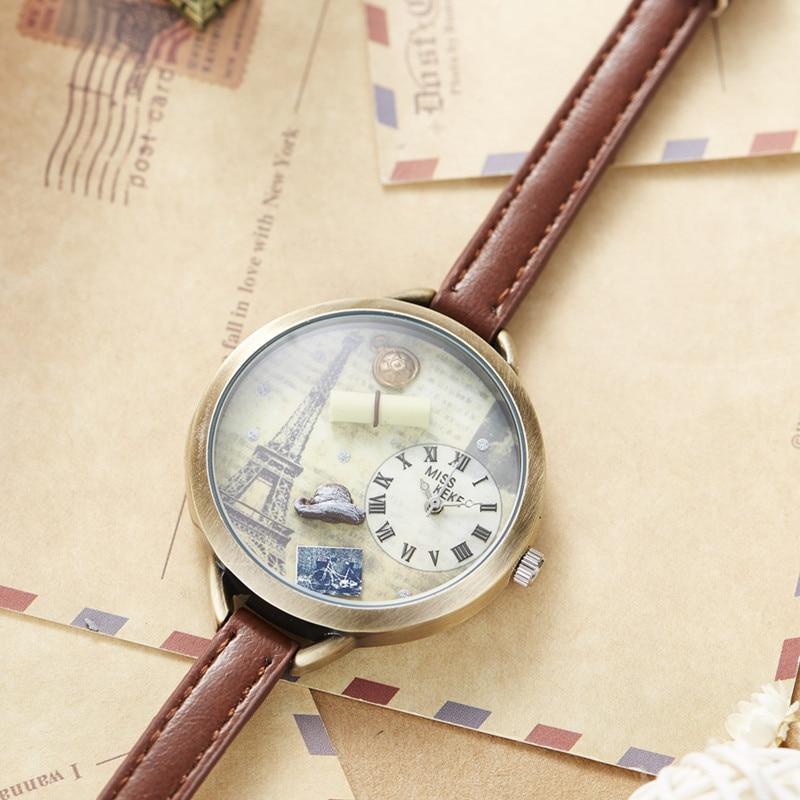 Miss Keke 3d Clay Leuke Mini Wereld Eiffeltoren Armband Horloges - Dameshorloges - Foto 5