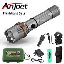 Anjoet наборы фонариков масштабируемый фонарик водонепроницаемый
