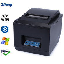 Zjiang 80mm Thermal Receipt Printer Auto Cutter Kitchen Restaurant POS Printers Wifi/Serial/Ethernet/USB/Bluetooth Printer 260mm(China)