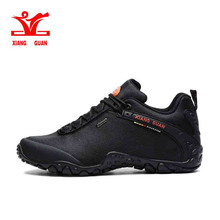 XIANG GUAN Outdoor Hiking shoes EUR size 39-48 man Breathable Anti-skid Windproof black travel Shoe Trend Sports Sneakers
