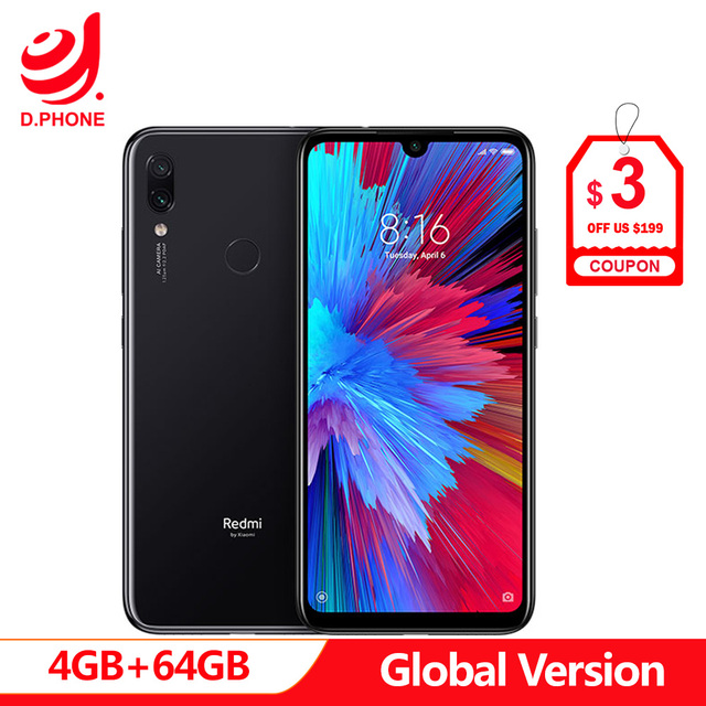 "Global Version Xiaomi Redmi Note 7 4GB 64GB Snapdragon 660 AIE Octa Core 6.3"" 19.5:9 Full Screen 48MP Rear Camera Cellphone"