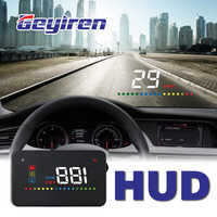 GEYIREN A200 hud car universal head up display speedometer obd2 temperature water Projection on the windshield for car hud 2018