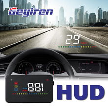 GEYIREN A200 hud car universal head up display speedometer obd2 temperature water Projection on the windshield for 2017