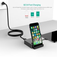 Tutuo Quick Charge 3.0 40W Usb Charger Wall Charger for iPhones Samsung Xiaomi LG mobile Charger